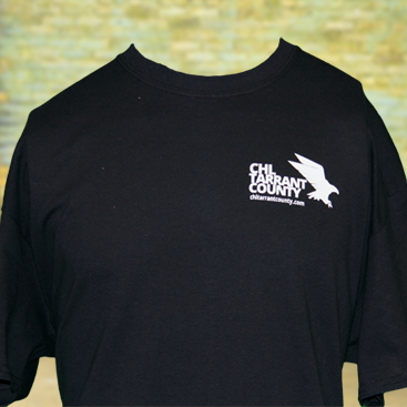 CHL Tarrant County Men Shirt Front Black