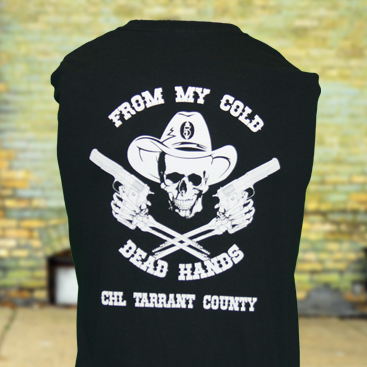 CHL Tarrant County Men Shirt Back Full Black